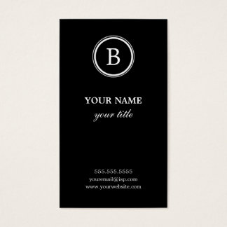 Schwarze Visitenkarten