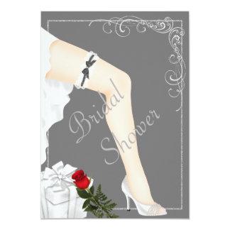 Elegante silberne Brautparty-Einladung 12,7 X 17,8 Cm Einladungskarte