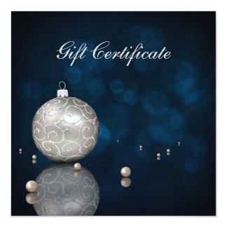 Elegante silberne Glitter-Verzierung - Quadratische 13,3 Cm Einladungskarte