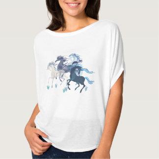 Elegante Spitze der laufenden Einhörner T-Shirt
