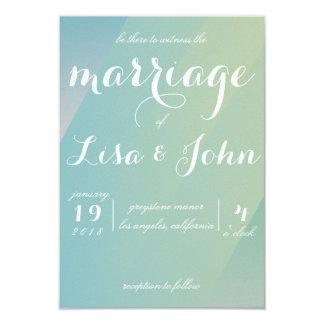 Elegante Steigungs-Hochzeits-Einladung Karte