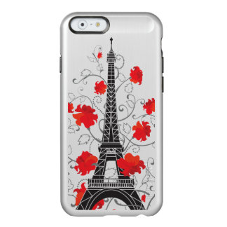 Elegante stilvolle Silhouette Turms Paris Eiffel Incipio Feather® Shine iPhone 6 Hülle