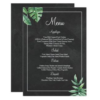 Elegante Tafel-Hochzeits-Menü-Karten-Vorlagen Karte