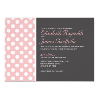 Elegante Tupfen-Hochzeits-Einladungen 12,7 X 17,8 Cm Einladungskarte