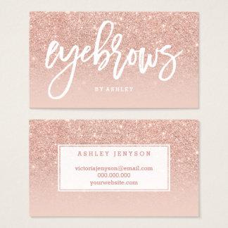 Elegante Typografie der Augenbrauen erröten Visitenkarte