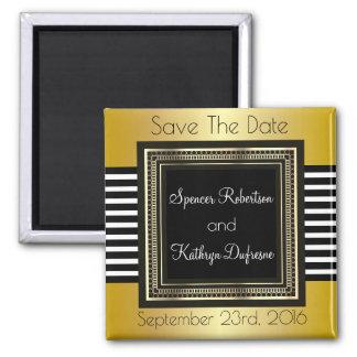 """Elegante u. moderne Hochzeit """"Save the Date """" Quadratischer Magnet"""