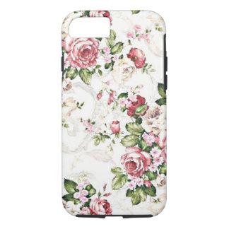 Elegante Vintage BlumenHütten-Creme-Rose iPhone 8/7 Hülle