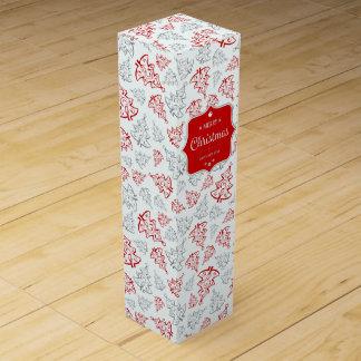 Elegante Weihnachtsbaum-Wein-Geschenkboxen Wein-Geschenkverpackung