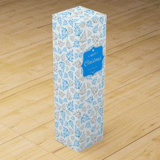 Elegante Weihnachtsbaum-Wein-Geschenkboxen Weinbox