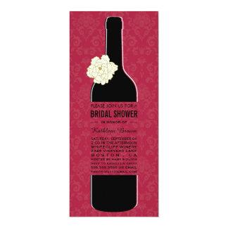 Elegante Wein-Brautparty-Einladungen 10,2 X 23,5 Cm Einladungskarte