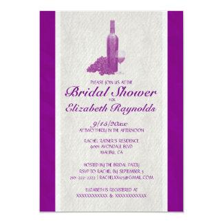 Elegante Wein-Flaschen-Brautparty-Einladungen 12,7 X 17,8 Cm Einladungskarte