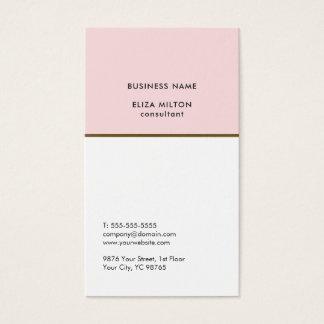 Elegante weiße erblassen - rosa kupferne Linie Visitenkarte
