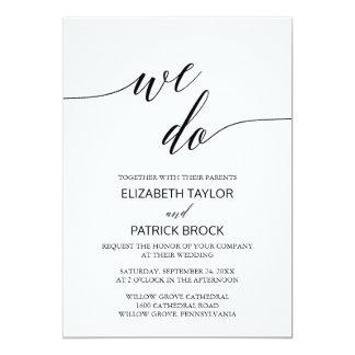 """Elegante weiße schwarze Kalligraphie """"wir tun"""" Karte"""