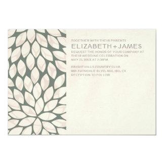 Elegante zeitgenössische Hochzeits-Einladungen 12,7 X 17,8 Cm Einladungskarte