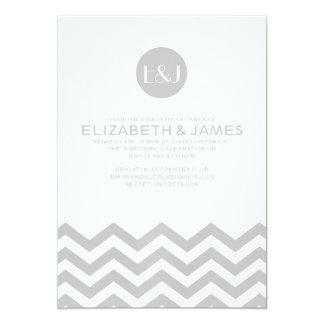 Elegante Zickzack Hochzeits-Einladungen 12,7 X 17,8 Cm Einladungskarte