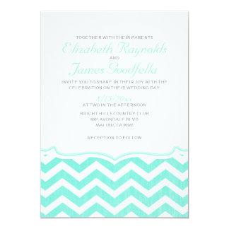 Elegante Zickzack Zickzack-Hochzeits-Einladungen 12,7 X 17,8 Cm Einladungskarte