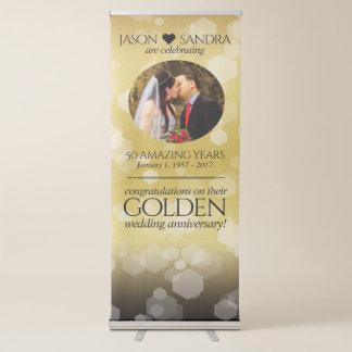 Eleganter 50. goldener Hochzeitstag Ausziehbarer Banner