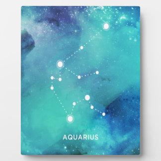 Eleganter aquamariner blauer fotoplatte