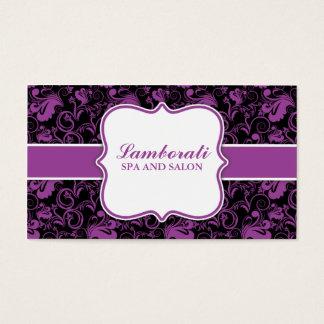 Eleganter Blumenmuster-Salon-Friseur-Stylist Visitenkarten