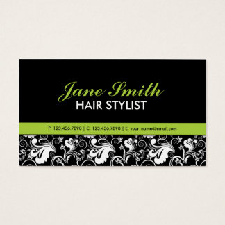 Eleganter Blumenmuster-Stylist-Salon-Friseur Visitenkarten