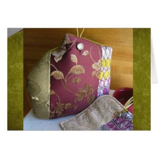 Eleganter Chartreuse Tapisserie-Tee gemütliche 2 Karte