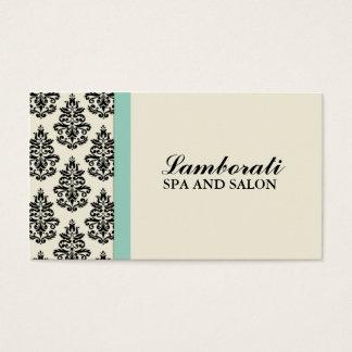 Eleganter Damast-BlumenStylist-Salon-Friseur Visitenkarten