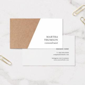 Eleganter Druckweißer geometrischer Berater Visitenkarte