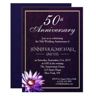 Eleganter einfacher Blumen-Hochzeits-Jahrestag Karte