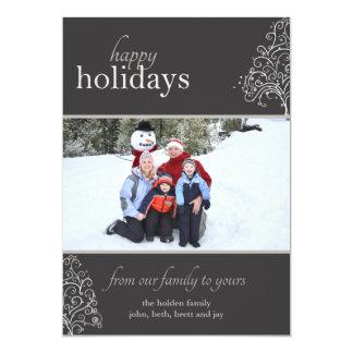 Eleganter Feiertag mit wunderlichem Weihnachtsbaum 12,7 X 17,8 Cm Einladungskarte