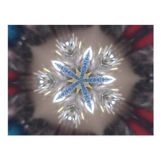 Eleganter festlicher Weihnachtsstern-glänzendes Postkarte