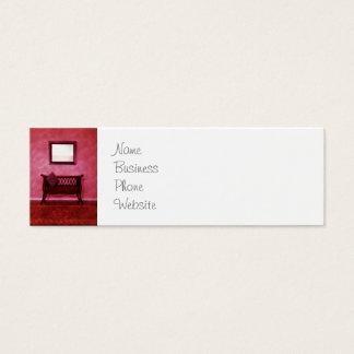 Eleganter Foyer-Sofa-Seat-Spiegel-Innenarchitektur Mini Visitenkarte