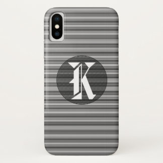 Eleganter gestreifter iPhone X Schwarzweiss-Kasten iPhone X Hülle