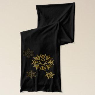 Eleganter goldener Schneeflocke-Schal Schal