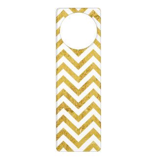 Eleganter Goldfolien-Zickzack Stripes Zickzack Türanhänger