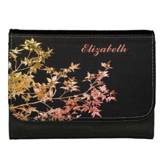 Eleganter Goldroter Herbstlaub-personalisierter