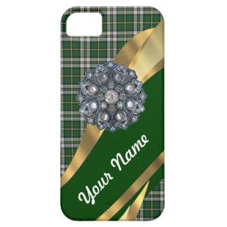 Eleganter grüner Tartan Etui Fürs iPhone 5