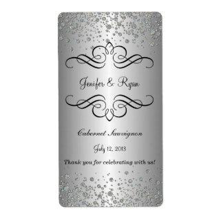 Eleganter Hochzeitsweinaufkleber Versandetikett