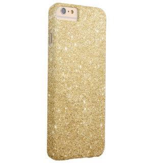 Eleganter Imitat-GoldGlitter-Luxus Barely There iPhone 6 Plus Hülle