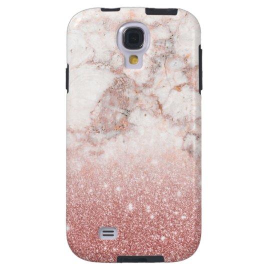 Eleganter Imitat-Rosen-GoldGlitzer weißes Galaxy S4 Hülle