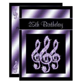 Eleganter, Luscious lila dreifache Clefs-25. 12,7 X 17,8 Cm Einladungskarte