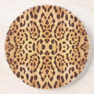eleganter Pelz des Leoparden Getränkeuntersetzer