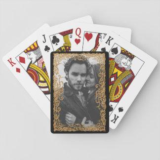 Eleganter Rahmen mit Foto Spielkarten