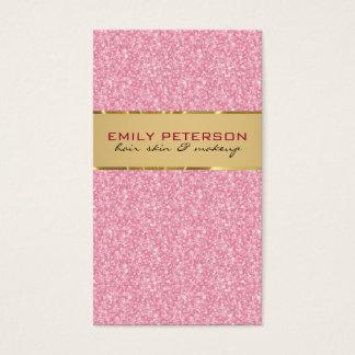 Eleganter rosa Glitter mit Goldakzenten Visitenkarten