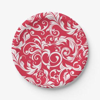 Eleganter saftiger roter Tapeten-Strudel Apples Pappteller