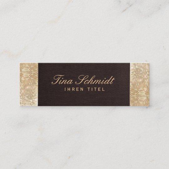 Eleganter Schicke Braun Bettwäsche Gold Paillette Mini