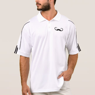 Eleganter Schnurrbart Poloshirt