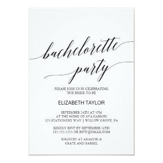 Eleganter schwarzer 12,7 x 17,8 cm einladungskarte