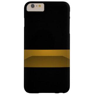 Eleganter schwarzer Goldminimalismus-modische Barely There iPhone 6 Plus Hülle