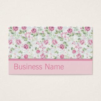 Eleganter Stylist-Salon-Friseur-Blumenmuster Visitenkarten