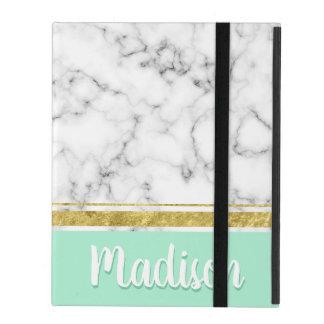 Eleganter tadelloser Marmor-und Goldindividueller iPad Hülle